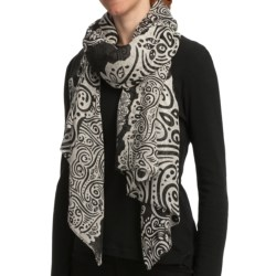 Asian Eye Lotu Scarf - Wool-Silk (For Women)