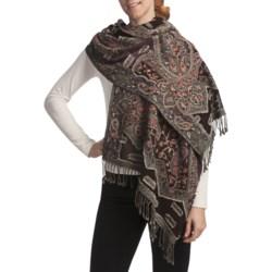 Asian Eye Whitecaps Shawl - Wool (For Women)