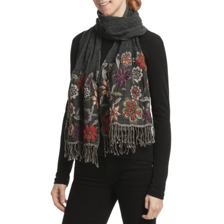 Asian Eye Twyla Shawl - Boiled Wool, Flared Ends (For Women)