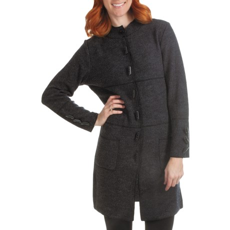 Country Fashion by Venario Mandarin Collar Coat - Boiled Wool (For Women)