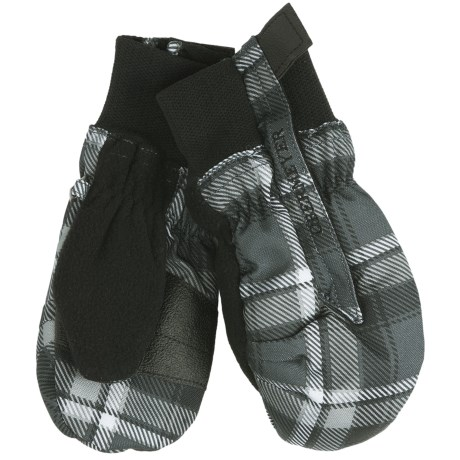 Obermeyer Thumbs Up Print/Plaid Mittens - Waterproof, Insulated (For Little Kids)