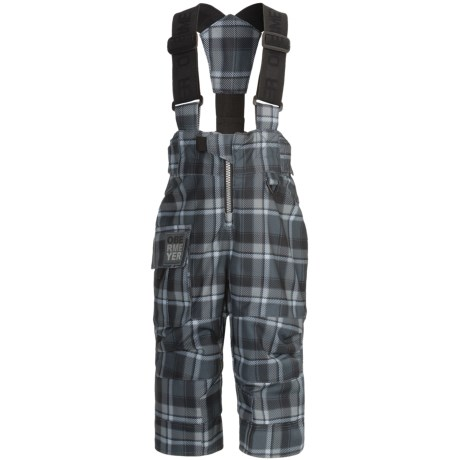Obermeyer Volt Plaid Suspender Snow Pants - Insulated (For Little Boys)