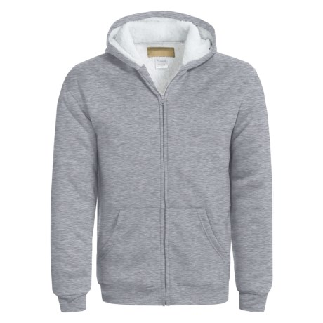 Sherpa-Lined Hoodie Sweatshirt (For Men)