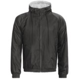 Hooded Windbreaker Jacket - Jersey Knit Lining (For Men)