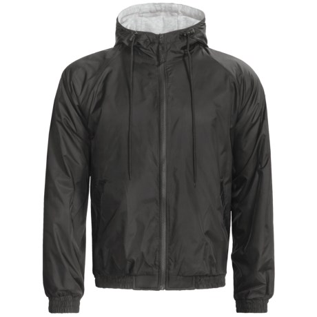 Hooded Windbreaker Jacket - Jersey Knit Lining (For Men)