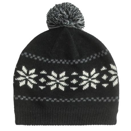 Grand Sierra Wool Blend Pompom Beanie Hat - Fleece Lining (For Women)