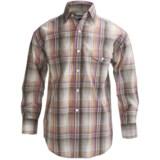 Panhandle Slim Poplin Satin Plaid Shirt - Snap Front, Long Sleeve (For Boys)