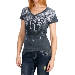 Rock & Roll Cowgirl Snow Crush T-Shirt - Short Sleeve (For Women)