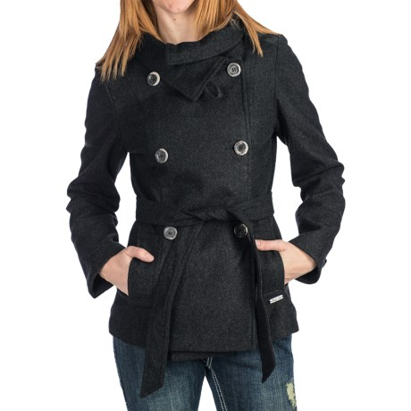 Powder River Outfitters Macy Coat - Heathered Wool Blend (For Women)