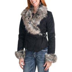 Powder River Outfitters Charis Asymmetrical Coat - Faux Suede (For Women)