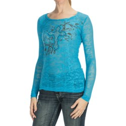 Panhandle Slim Burnout Shirt - Long Sleeve (For Women)