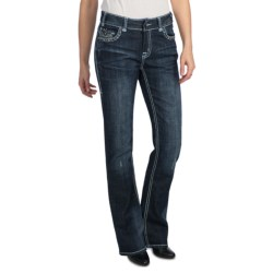 Rock & Roll Cowgirl Zigzag Deco Seam Stitch Jeans - Mid Rise, Bootcut (For Women)