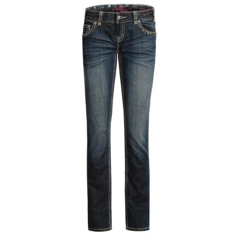 Rock & Roll Cowgirl Hematite Patch Pocket Jeans - Low Rise, Bootcut (For Women)