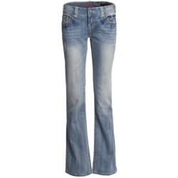 Rock & Roll Cowgirl Faux-Snakeskin Patch Jeans - Low Rise, Bootcut (For Women)
