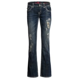 Rock & Roll Cowgirl Heart Peace Jeans - Low Rise, Bootcut (For Women)