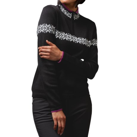 Meister Erin Sweater - Wool Blend, Zip Mock Neck (For Women)