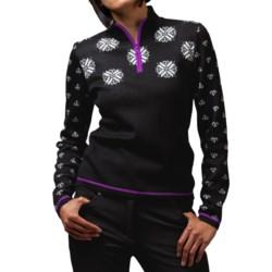 Meister Sonia Sweater - Wool Blend, Zip Neck (For Women)