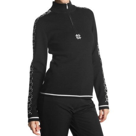 Meister Maria Sweater - Merino Wool, Zip Neck (For Women)