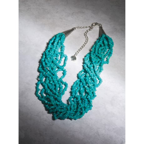 Southwest Spirit Turquoise Nugget Necklace - 10-Strand
