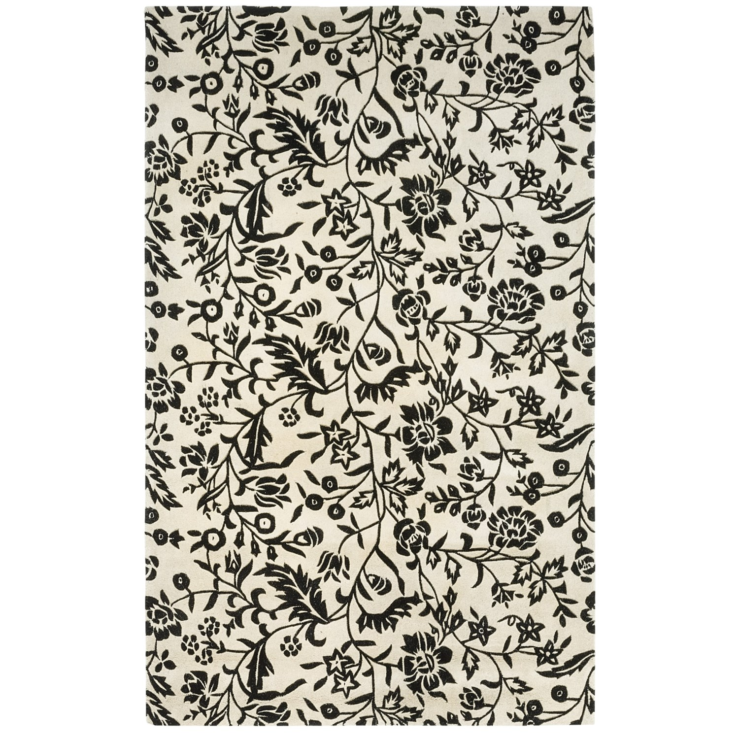 Hri Damask Collection Area Rug Hand Tufted Wool 8x11