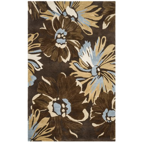 HRI Inspired Collection Area Rug - Hand-Tufted Wool, 5x8'