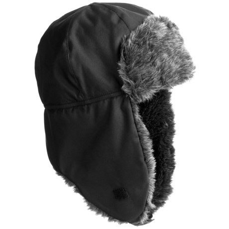 Grand Sierra Tusser Shell Trapper Hat - Faux Fur (For Men)