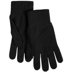 Johnstons of Elgin Lambswool Knit Gloves (For Women)