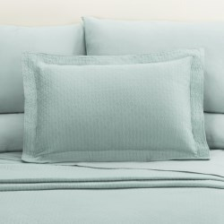 DownTown Paula Matelasse Pillow Sham - Standard, Mercerized Cotton