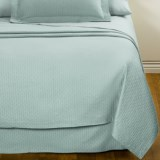 DownTown Paula Matelasse Coverlet - King, Mercerized Cotton