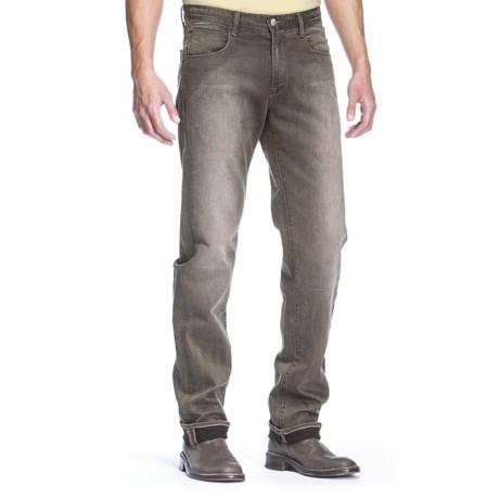 Agave Denim Pragmatist Blackfill Twill Olive Jeans - Classic Fit (For Men)