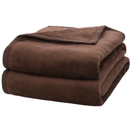 DownTown Plush Blanket - Cotton-Rayon, Queen