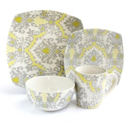 Waverly Bedazzled Dinnerware Set - 16-Piece, Porcelain
