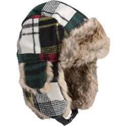 Turtle Fur I Am Tartan Trapper Hat - Ear Flaps, Insulated (For Kids)