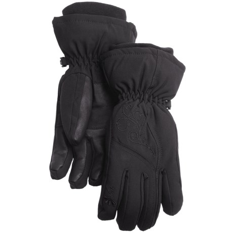 Gordini Floral Gloves - Waterproof, Insulated (For Women)