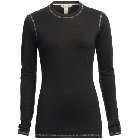 SmartWool Microweight Athleta Base Layer Top - Merino Wool, Crew Neck, Long Sleeve (For Women)
