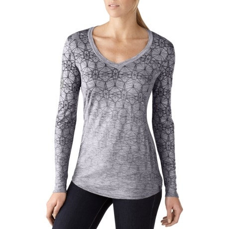 SmartWool Lightweight Base Layer Top - Merino Wool, V-Neck, Long Sleeve (For Women)