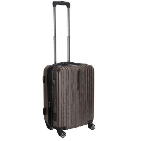 """Traveler's Choice 20"""" Tasmania Spinner Suitcase - Hardside, Expandable"""