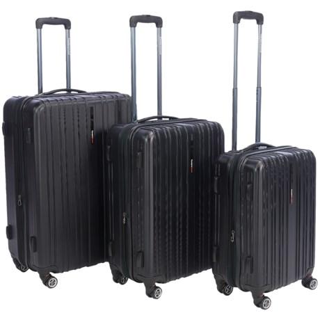 Traveler's Choice Tasmania Hard Case Spinner Luggage Set - 3-Piece, Expandable