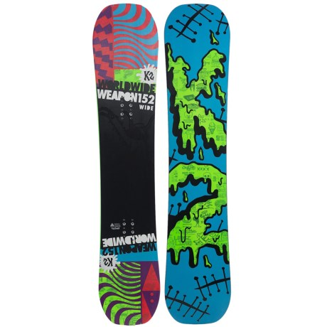 K2 WWW (World Wide Weapon) Rocker Snowboard - Wide