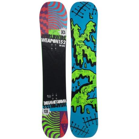 K2 WWW (World Wide Weapon) Rocker Snowboard - Wide