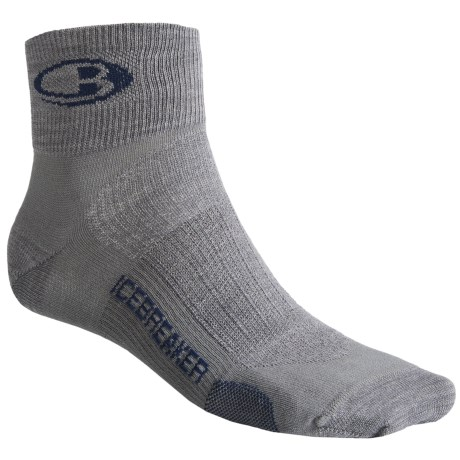 Icebreaker Run Ultralite Mini Socks - Merino Wool, Quarter-Crew (For Men)
