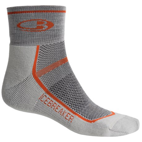 Icebreaker Multisport Cushion Mini Socks - Merino Wool, Quarter-Crew (For Men)