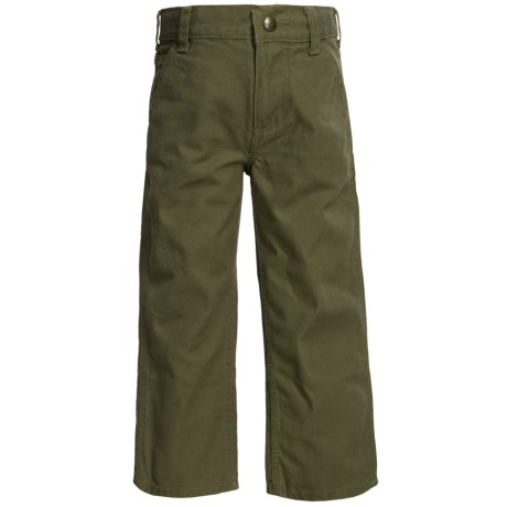 Carhartt Washed Canvas Dungarees (For Little Boys)