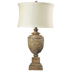 Elk Lighting Tropical Carving Urn Table Lamp