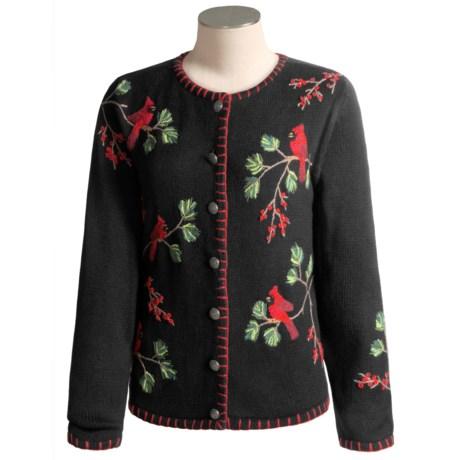 David Brooks Cardinal Cardigan Sweater  (For Women)