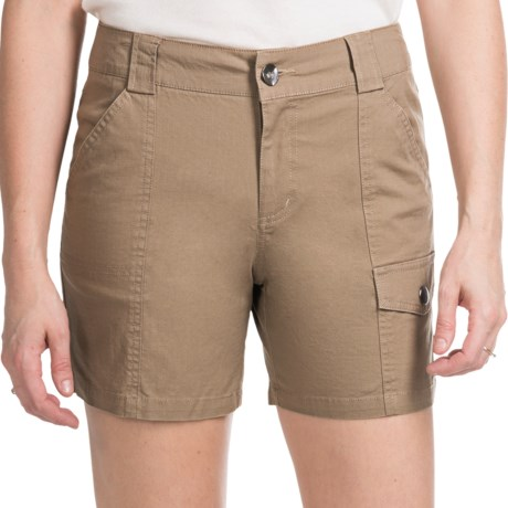 Tribal Sportswear Stretch Cotton Shorts (For Women)