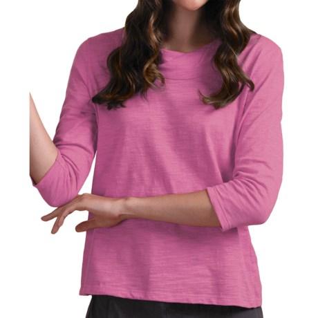 Neon Buddha Rock & Roll Twist T-Shirt - Cotton Slub, 3/4 Sleeve (For Women)