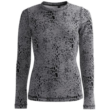 Sno Skins Leopard Denim Stretch Knit Shirt - Long Sleeve (For Women)