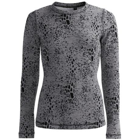 Sno Skins Leopard Denim Stretch Knit Shirt - Long Sleeve (For Women)