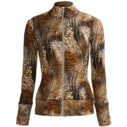 Sno Skins Microfiber Print Jacket - Zip Front (For Women)